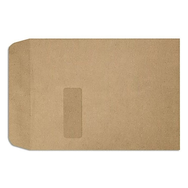 LUX Peel & Press 9 x 12 Open End Window Envelopes 250/Pack, Grocery Bag Brown (1590-GB-250)