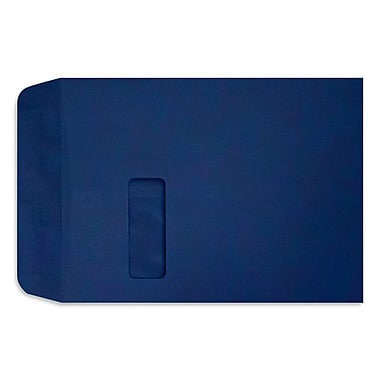 LUX Peel & Press 9 x 12 Open End Window Envelopes 500/Pack, Navy Blue (LUX1590103-500)
