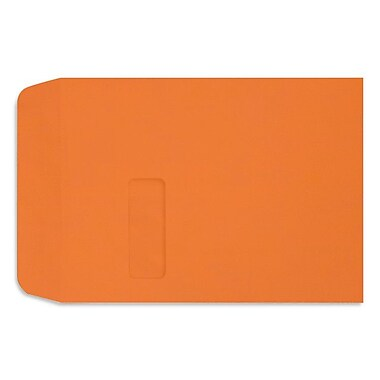 LUX 9 x 12 Open End Window Envelopes 50/box, Mandarin (LUX-1590-11-50)