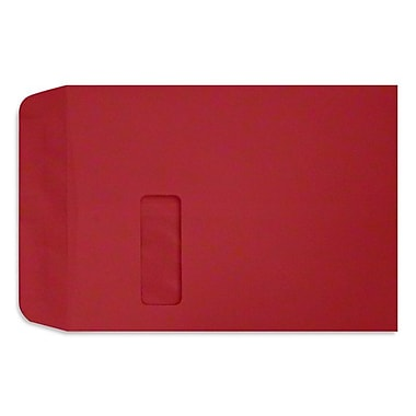 LUX Peel & Press - 9 x 12 Open End Window Envelopes - 250/Pack - Ruby Red (LUX-1590-18-250)
