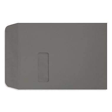LUX Peel & Press 9 x 12 Open End Window Envelopes 250/Pack, Smoke Gray (LUX-1590-22-250)