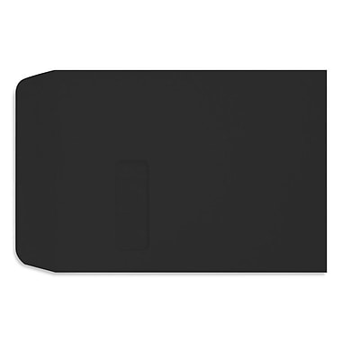 LUX Peel & Press - 9 x 12 Open End Window Envelopes - 500/Pack - Midnight Black (LUX-1590-B-500)