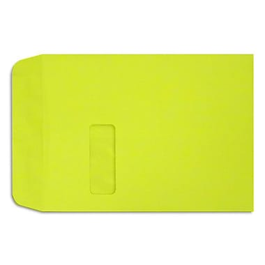 LUX Peel & Press - 9 x 12 Open End Window Envelopes - 50/Pack - Wasabi Green (LUX-1590-L22-50)