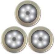 Newhouse Lighting Battery Powered Wireless Motion Sensing LED Light (Set of 3)