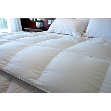 Royal Elite Canadian White Down Duvet, 400 Thread Count, Queen, 30 Ounces