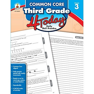 Common Core Third Grade 4 Today: Daily Skill Practice