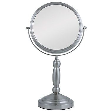 Zadro Aluminum/Stainless Steel Two Sided Vanity Swivel Mirror 15.5