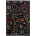 StyleHaven Floral Blue/ Multi Indoor Machine-made Polypropylene Area Rug (6'7in. X 9'6in.)