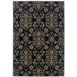 "StyleHaven Floral Navy/ Gray Indoor Machine-made Polypropylene Area Rug (5'3"" X 7'6"")"