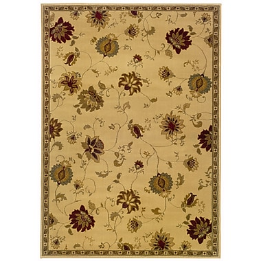 StyleHaven Floral Ivory/ Green Indoor Machine-made Polypropylene Area Rug (8'2
