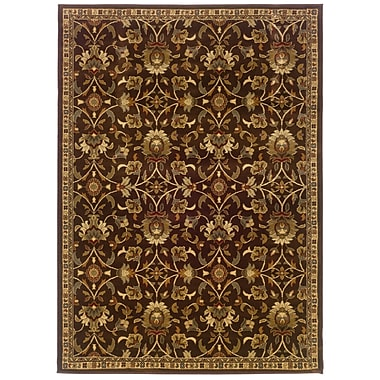 StyleHaven Floral Brown/ Beige Indoor Machine-made Polypropylene Area Rug (8'2