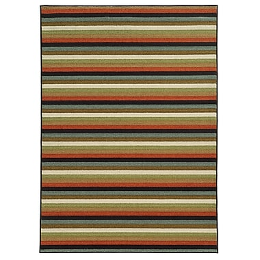 StyleHaven Geometric Multi/ Multi Indoor Machine-made Nylon Area Rug (5'3