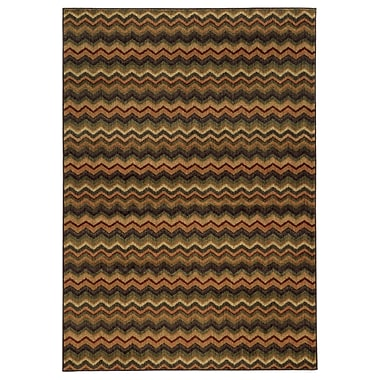 StyleHaven Geometric Brown/ Multi Indoor Machine-made Polypropylene Area Rug (3'3