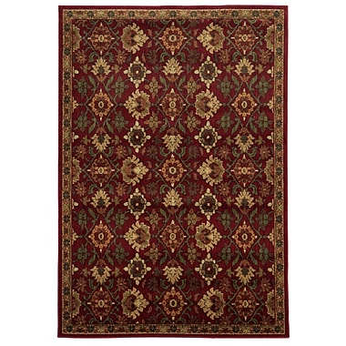 StyleHaven Oriental Red/ Green Indoor Machine-made Polypropylene Area Rug (6'7