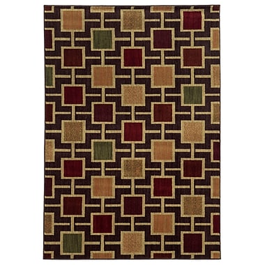 StyleHaven Geometric Brown/ Beige Indoor Machine-made Polypropylene Area Rug (7'10