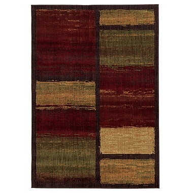 StyleHaven Abstract Brown/ Red Indoor Machine-made Polypropylene Area Rug (7'10