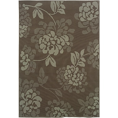 StyleHaven Floral Grey/ Blue Indoor/Outdoor Machine-made Polypropylene Area Rug (3'7