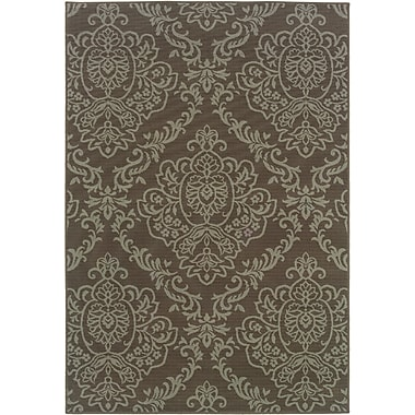 StyleHaven Floral Grey/ Blue Indoor/Outdoor Machine-made Polypropylene Area Rug (5'3