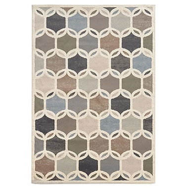 StyleHaven Geometric Circles Ivory/ Multi Indoor Machine-made Polypropylene Area Rug (5'3