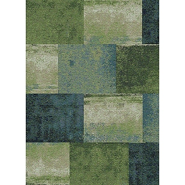 StyleHaven Geometric Green/ Blue Indoor Machine-made Polypropylene Area Rug (6'7