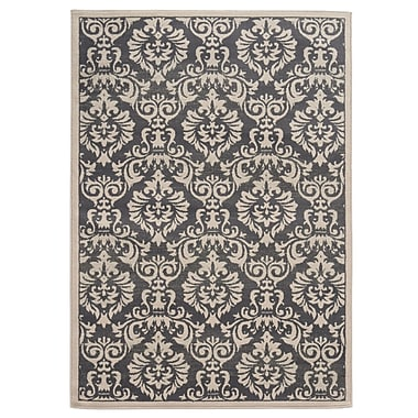 StyleHaven Floral Charcoal/ Ivory Indoor Machine-made Polypropylene Area Rug (6'7