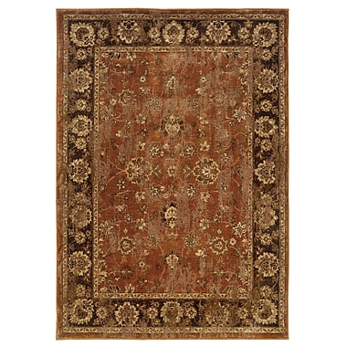 StyleHaven Oriental Orange/ Brown Indoor Machine-made Nylon/Polypropylene Area Rug (5'3