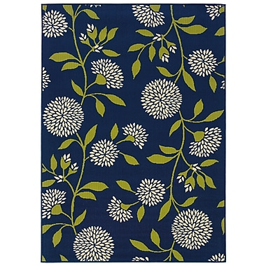 StyleHaven Floral Blue/ Green Indoor/Outdoor Machine-made Polypropylene Area Rug (5'3