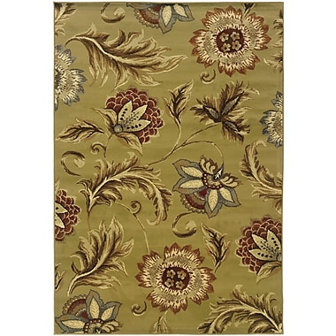 StyleHaven Floral Tan/ Gold Indoor Machine-made Polypropylene Area Rug (5'3