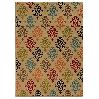 StyleHaven Floral Ivory/ Multi Indoor Machine-made Polypropylene Area Rug (6'7