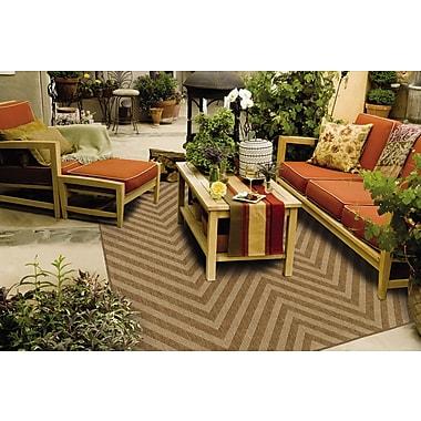 StyleHaven Chevron Tan/ Light Tan Indoor/Outdoor Machine-made Polypropylene Area Rug (6'7