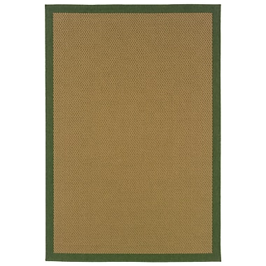 StyleHaven - Outdoor Beige/ Green Indoor/Outdoor Machine-Made Polypropylene Area Rug (3'7