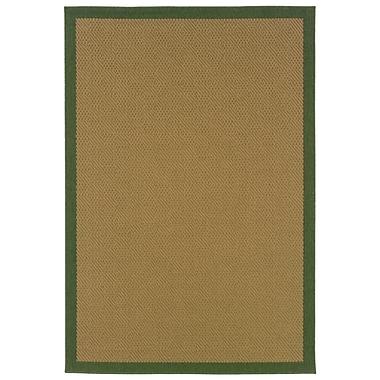 StyleHaven - Outdoor Beige/ Green Indoor/Outdoor Machine-Made Polypropylene Area Rug (5'3