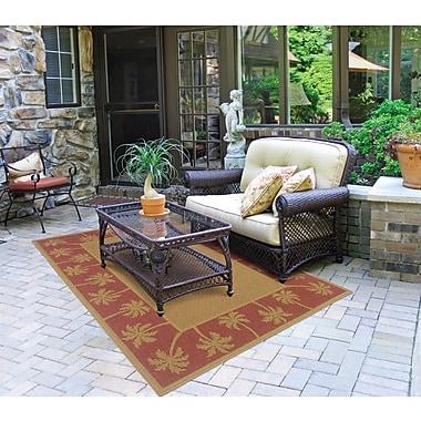 StyleHaven Outdoor Beige/ Red Indoor/Outdoor Machine-made Polypropylene Area Rug (5'3