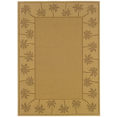 StyleHaven Outdoor Beige/ Tan Indoor/Outdoor Machine-made Polypropylene Area Rug (5'3