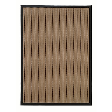 StyleHaven-Outdoor Beige/ Black Indoor/Outdoor Machine-made Polypropylene Area Rug (7'3