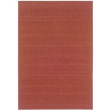 StyleHaven Outdoor Red/ Indoor/Outdoor Machine-made Polypropylene Area Rug (6'3