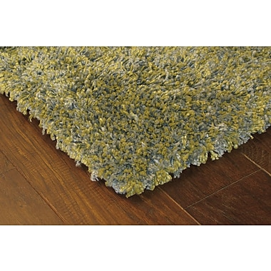 StyleHaven Shag Green/ Blue Indoor Machine-made Polypropylene Area Rug (6'7