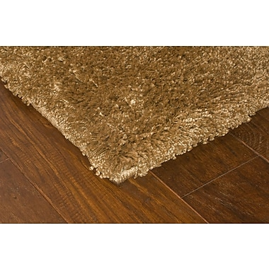 StyleHaven Shag Gold/ Gold Indoor Machine-made Polypropylene Area Rug (4' X 5'9