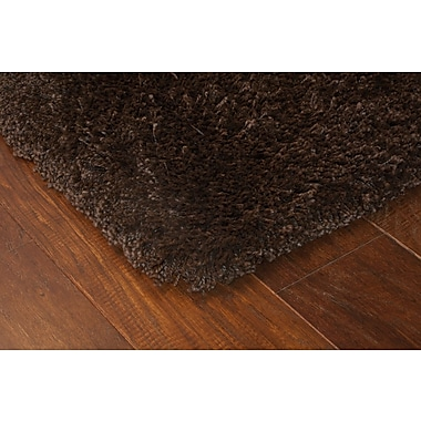 StyleHaven Shag Brown/ Brown Indoor Machine-made Polypropylene Area Rug (6'7