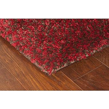 StyleHaven Shag Red/ Brown Indoor Machine-made Polypropylene Area Rug (5'3