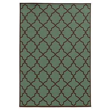 StyleHaven Geometric Blue/ Brown Indoor/Outdoor Machine-made Polypropylene Area Rug (6'7