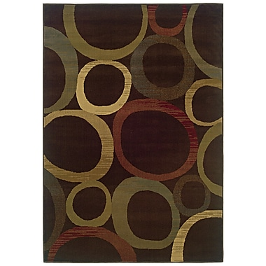 StyleHaven Geometric Brown/ Beige Indoor Machine-made Polypropylene Area Rug (8'2