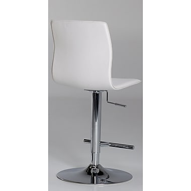 Matrix Klub Adjustable Height Swivel Bar Stool; White