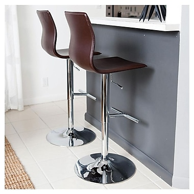 Matrix Klub Adjustable Height Swivel Bar Stool; Camel