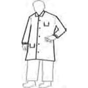 DuPont NexGen  White Full-Cut Lab Coat With 5-Snaps 2-Pockets And Collar Size Large