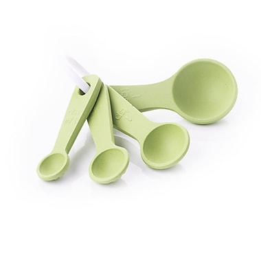 Natural Home Moboo Ribbed Measuring Spoon; Pistachio