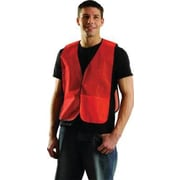 OccuNomix Large Orange Mesh Vest With No Reflective Tape