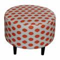 Sole Designs Sophia Jojo Round Ottoman; Jojo Tangelo