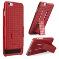 i-Blason Apple iPhone Plus 5.5in. Case - Transformer Series Slim Hard Shell Holster Combo - Red