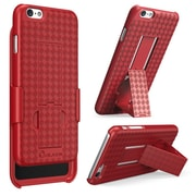 "i-Blason Apple iPhone Plus 5.5"" Case - Transformer Series Slim Hard Shell Holster Combo - Red"